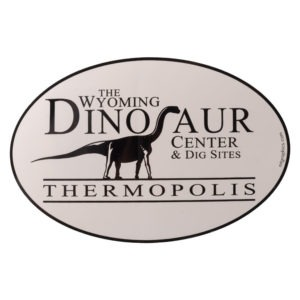 Wyoming Dinosaur Center logo sticker for purchase.
