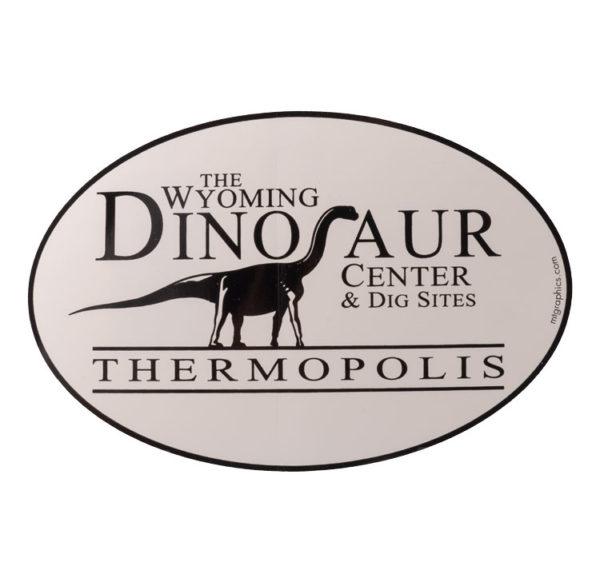 Wyoming Dinosaur Center logo sticker for purchase.